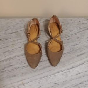 Shoes - Toupe Strappy Flats